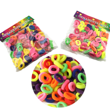 Girls 100/200/400Pcs Hair Accessories Elastic Rubber Band Holders Scrunchy Headdress Ties/Rings/Ropes Hairdres Colorul