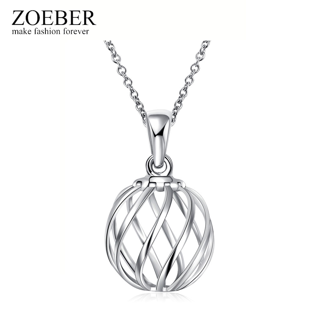ZOEBER Simple Chain Modern Girl New Long Geometric hollow Necklace Women silver pated Pendants Jewelry wholesale Cute Gift