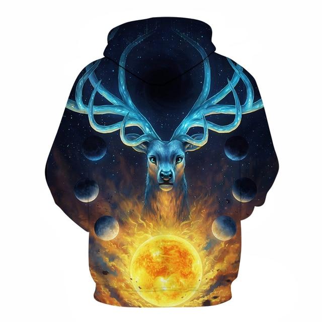 Fantasy Galaxy Nebula Stag Deer