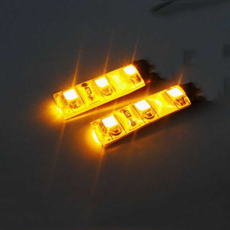 2x White 3 SMD LED Light Strip For Mercedes-Benz Waterproof Under Dash Courtesy