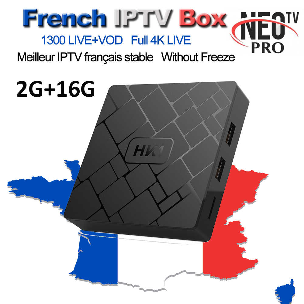 HK1 TV Box Android NEOTV PRO IPTV Europe French Arabic Italian Belgium Spanish Code 1800+ Channel 3000+ Films VOD
