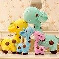 18 cm 1 UNID Linda Jirafa De Peluche Juguetes de Peluche Animal Colorido Estimado muñeca Kawaii Punto Juguete para Niños Muchachas de los niños de Cumpleaños regalo