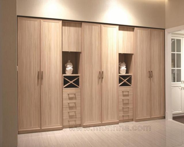 Charming Melamine MDF Wood Gain Bedroom Wardrobe Closet