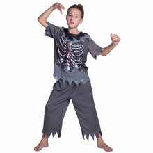 carnival costume halloween costume for kids girls zombie costume children scary costume skeleton blood carnival cosplay