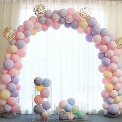 100 sztuk 10 cali Macaron kolor lateksowy balon dekoracje ślubne urodziny dziecka Party walentynki Decor balon|Balony i akcesoria|   -