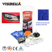 Visbella Headlamp Brightener Kit DIY Headlight Restoration For Car Head Lamp Lenses Deep Clean Head Light