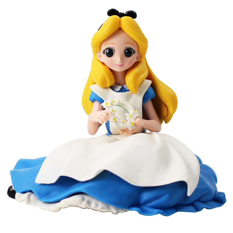 2019 Anime Q Posket Princess Dolls Crystalux Alice In Wonderland Qposket PVC Action Figure Collectible Model Toy Figura