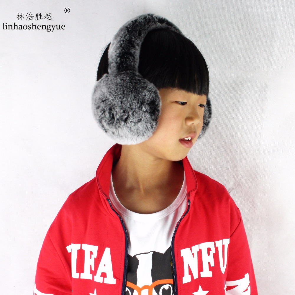 Real fur Rex fur ear fur cover Earmuff Suitable for children over seven years old and Adult
