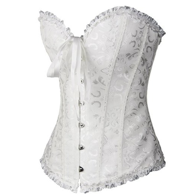 ef291c6a3f4 ... AIZEN Corsets Sexy Women s Plus Size Corsets And Bustiers Overbust  Gothic Lace Strapless Brocade Corselet Clothing ...