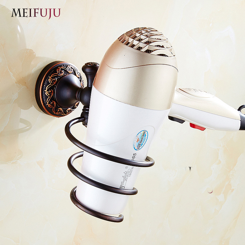 Bathroom Accessories Wall-mounted Hair Dryer Hairdryer Support Holder Spiral Stand Holder rack Wall Holder Shelf Storage Antique