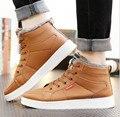 5 .. 2016 Inglaterra de La Manera de Los Hombres calientes del Invierno botas de algodón botas de caña alta botas zapatos de los hombres Grandes del Tamaño 39-44 zapatos de Los Hombres Al Aire Libre