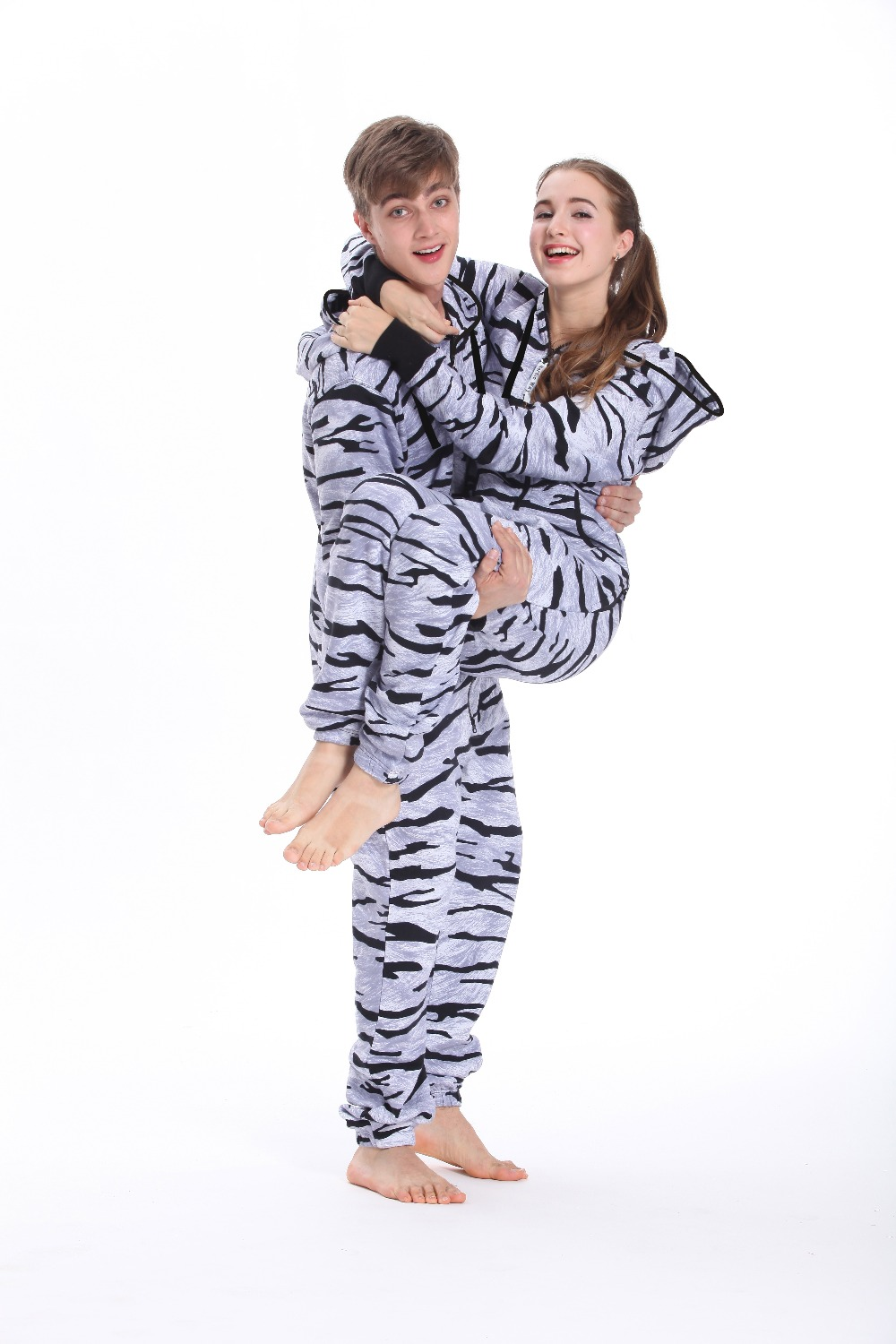 eac167654a25 Detail Feedback Questions about Nordic Way Zebra Print One Piece Jumpsuit  In Hoodie Fleece Unisex Playsuit Adult Onezie on Aliexpress.com