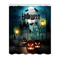 New Halloween Creative Shower Curtain 3D High Definition Digital Printing Waterproof Moisture Proof Mold Bathroom Curtains