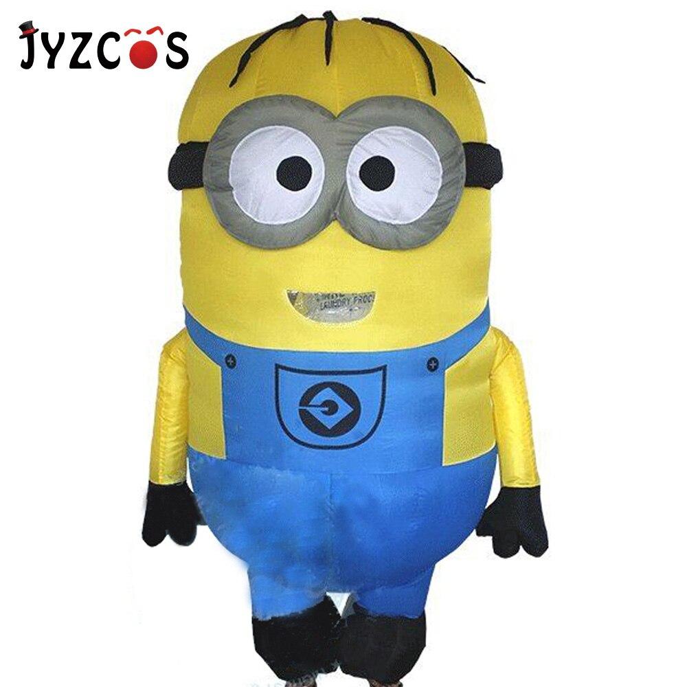JYZCOS Gonflable Minion costumes pour adultes Pourim Halloween Cosplay Partie Despicable Me Mascotte Air blow Up Tenues déguisement