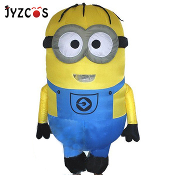 JYZCOS Inflatable Minion Costumes for Adults Purim Halloween Cosplay Party Despicable Me Mascot Air blow Up Outfits Fancy Dress снегокат snow moto minion despicable me yellow 37018