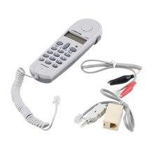 Teléfono Butt Teléfono de Prueba Probador Herramienta de Instalador de líneas de Cable para Conectores Joiner