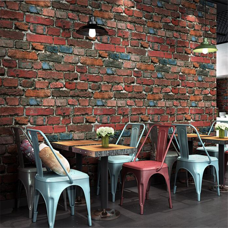 beibehang Retro nostalgic stereo imitation brick wallpaper cafe bar restaurant culture stone red brick wallpaper papel de parede brick pattern wallpaper brick retro culture stone wallpaper brick industrial wind loft coffee restaurant background wallpaper