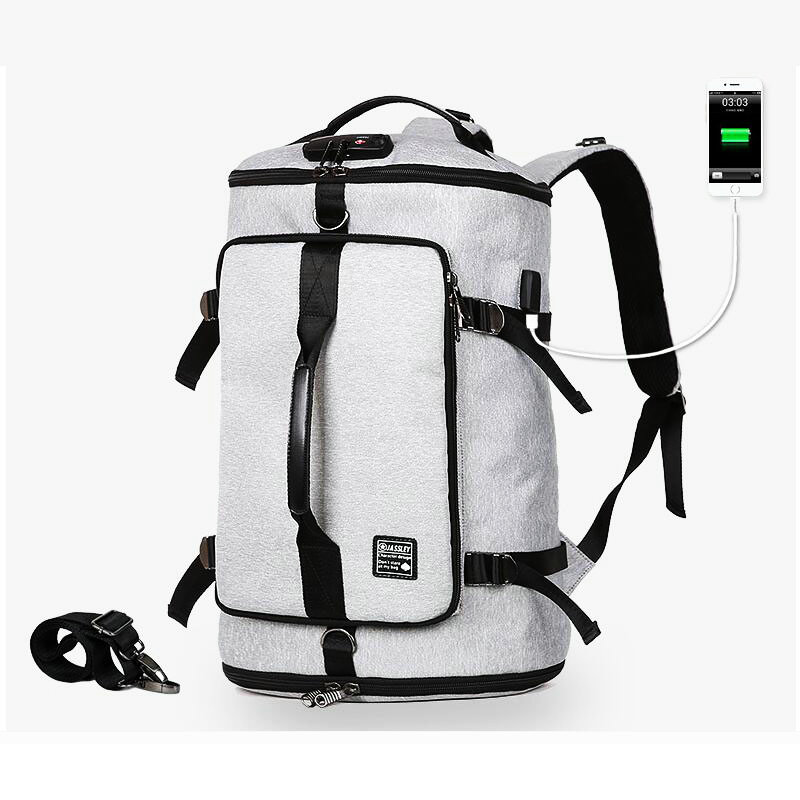 4abdd0f6f4bd Men Anti Theft USB Charging Outdoor Backpack Multifunction Oxford Waterproof  Gym Bag Laptop Storage Sport Travel Bag For Women