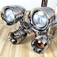 مصابيح القيادة المركبة على شكل انسيابية من الكروم وإشارات الانعطاف المدخنة لسيارة Harley Touring Street Glide Road King Trike 1996 2013