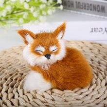 1 шт маленькая имитация лисы игрушка мини приседающая модель