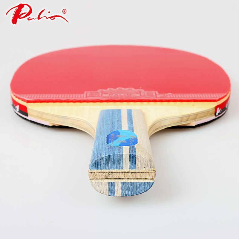 Palio 5 Star Legend Table Tennis Racket Haduo Rubber Ping Pong Racket Pure Wood Carbon Blade bat
