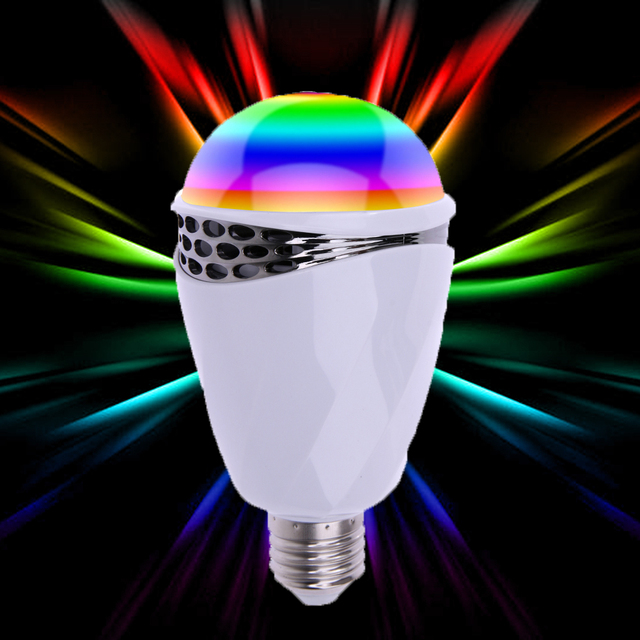 APP Controlled E27 Colorful Light Bulb Bluetooth Speaker