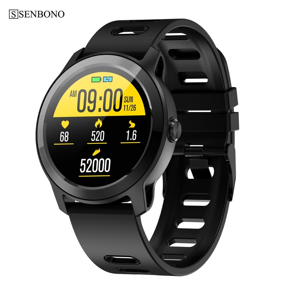 SENBONO S08 Plus IP68 reloj inteligente resistente al agua para hombres y mujeres Monitor de ritmo cardíaco reloj inteligente para Fitness Track para Android IOS