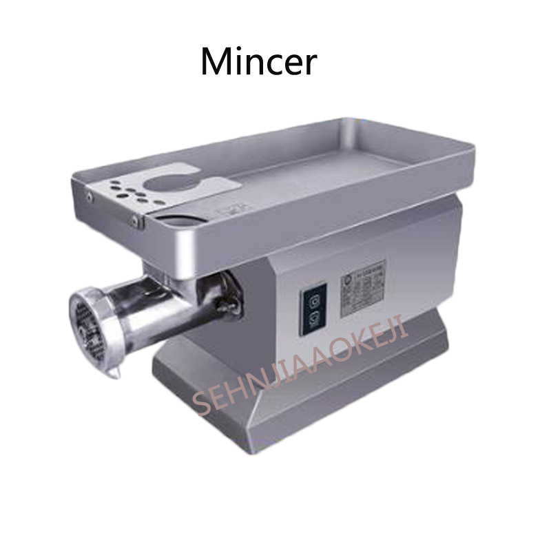 Stainless steel electric meat grinder Commercial copper motor mincer High power meat filling machine sausage machine 220V 1PC newest 60 kg hour 220v electric ce commercial meat grinder meat mincer stainless steel electric meat grinder machine