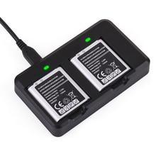 Двойной док chager и 2 батареи для samsung gear 360 vr камеры sm-c200 eb-bc200abk