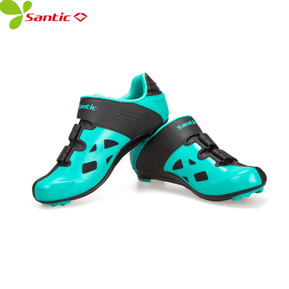santic white bicycle racing sports cycling shoes breathable athletic mtb road bike auto lock shoes ciclismo zapatillas SANTIC couple carbon fiber cycling shoes auto-lock sneakers off road bike bicycle shoes Athletic Racing Team sports mtb shoes
