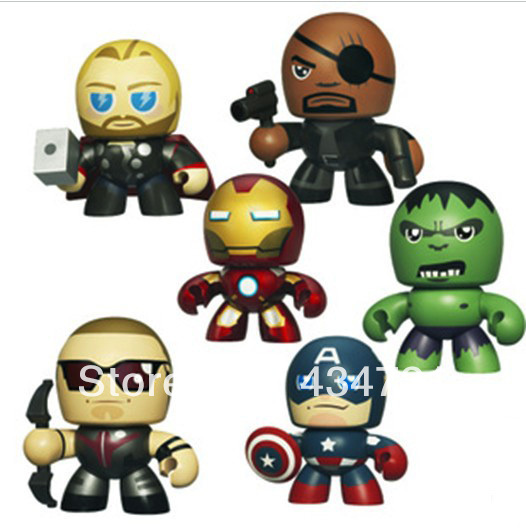 Hot sale The Avengers Captain America Hulk Thor Iron man Clint Barton NickFury Mini PVC Action Figure High quality 6 pcs/Set marvel avengers chess captain america pvc action figure collectible model toy 15cm hrfg462