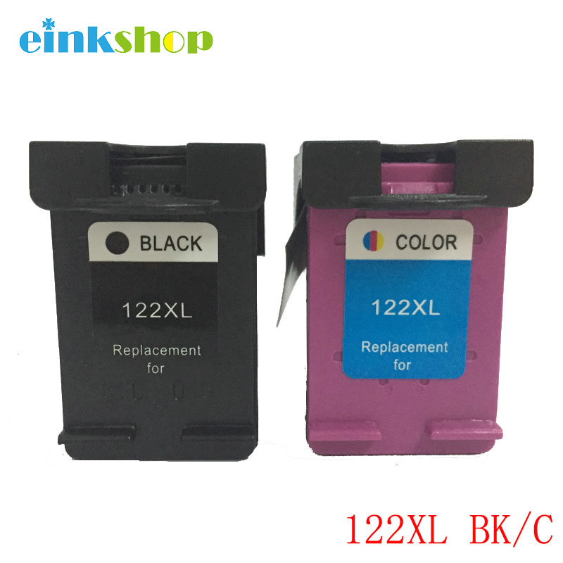 2 Piece Ink Cartridge For HP 122 122XL Ink Cartridge For HP Deskjet 1000 1050 1050A 1510 2000 2050 2050A 3000 3050 3050A Printer