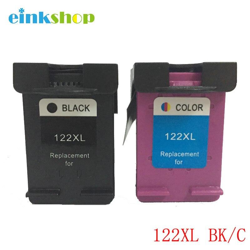 Einkshop 122 XL Cartouche D'encre Cartouche Compatible pour hp 122XL Deskjet 1000 1050 1050A 1510 2000 2050A 3000 3050 Imprimante