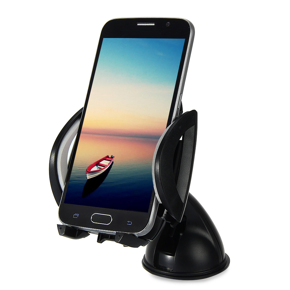 A046 360 Degrees Car Windscreen Holder Dashboard Mount Stand for Cell Phone GPS 360 degrees