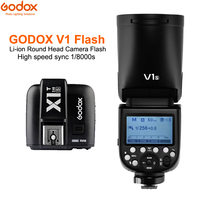 Godox V1 V1CV1N V1S TTL 1/8000s Li ion Battery Flash Speedlite + X1T C/N/S Trigger for SONY Canon Nikon Cameras