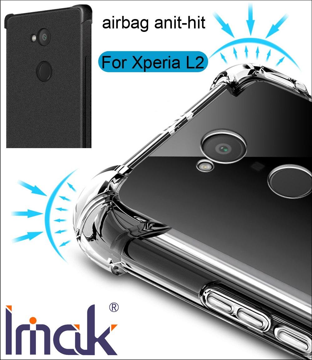IMAK Airbag Cas Pour Sony Xperia L2 de Baisse résistance anti frappé Choc Tpu Silicone Couverture
