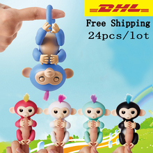 24pcs/lot Elderly Interactive Baby Monkey Smart Color FingerLlings Smart Induction Toy Child Best Gift