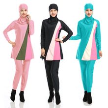 Roses Islamic Clothing Ete Long Kaftan Cotton Fashion New Hot Selling Muslim Swimsuit Woman Conservative Islamic Women's Suit