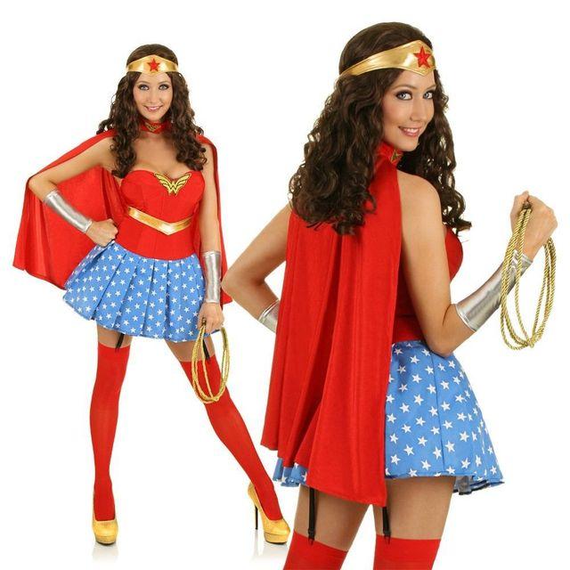 New Sexy Ladies Lingerie Super Wonder Woman Hero Fancy -3095