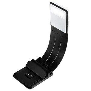 Портативный светодиодный светильник для чтения книг со съемным гибким зажимом USB перезаряжаемая лампа для чтения книг Kindle