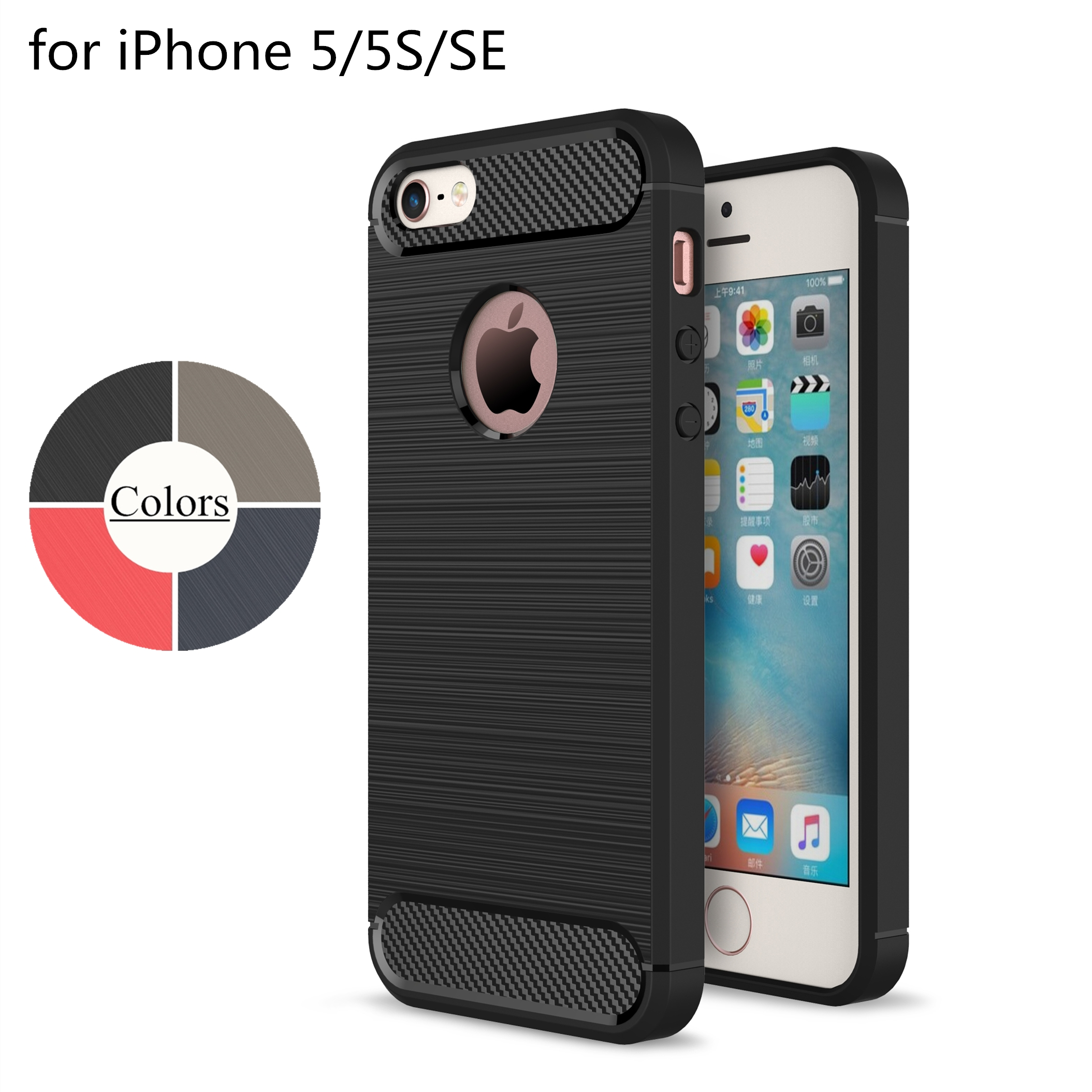Case for Apple iPhone 5 5S SE TPU Silicone Case Ultra-thin Soft Cover Matte Feel Phone Case For iPhone SE Rugged Armor