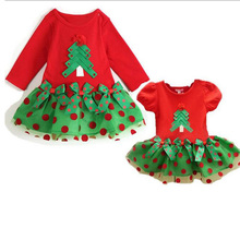 Tutu Baby Girls Dress Dot Red Bow Infant Christmas Dress For Party Princess Floral Vestido Infantil Baby Girl Clohing summer baby girls dress infant floral bow sleeveless toddler girls birthday party dresses baby clothing vestido infantil