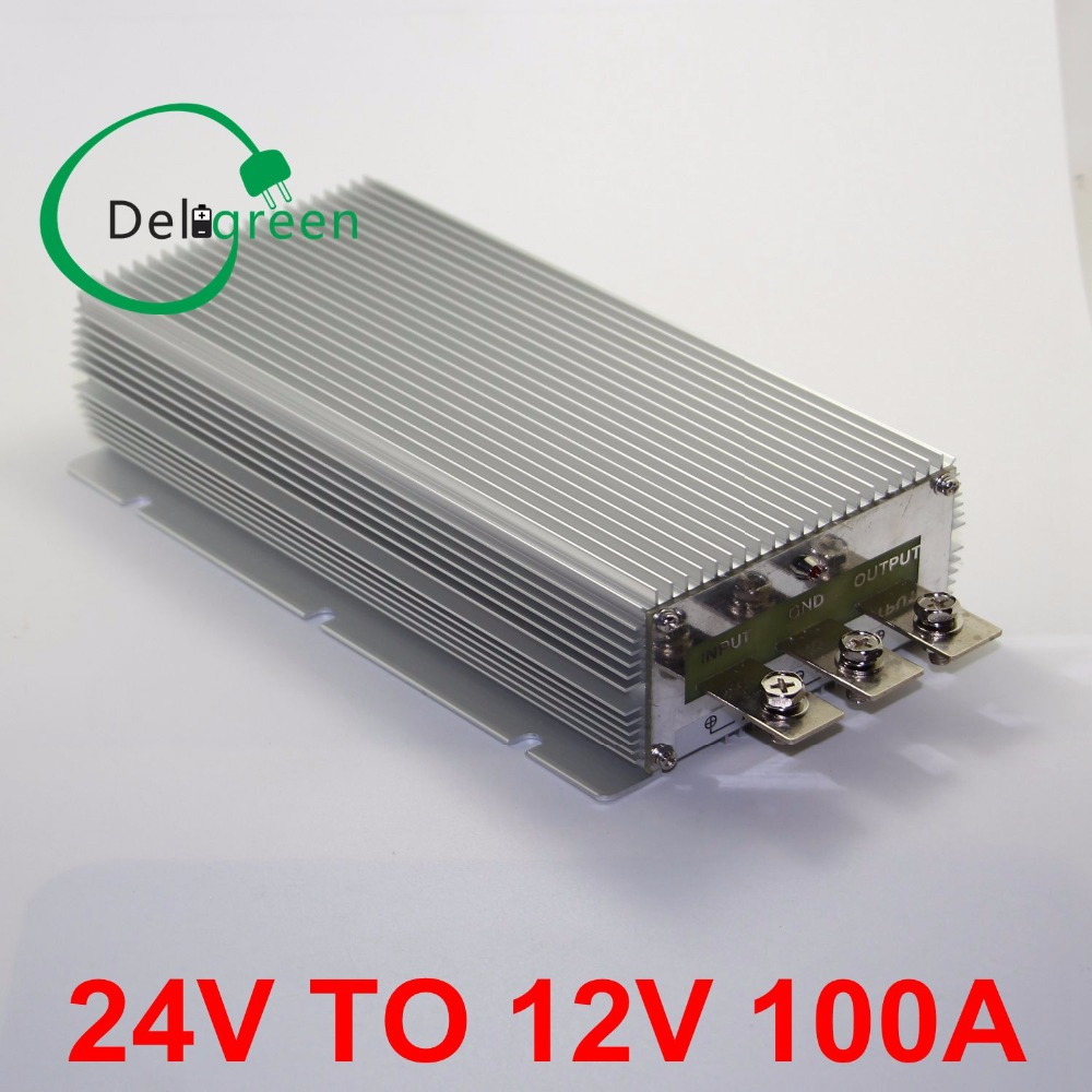 DC24V to DC 12V 100A step down power supply module regulator waterproof buck converter free shipping 24v 12v to 5v 5a dc dc step down buck converter module power supply led lithium charger 233517