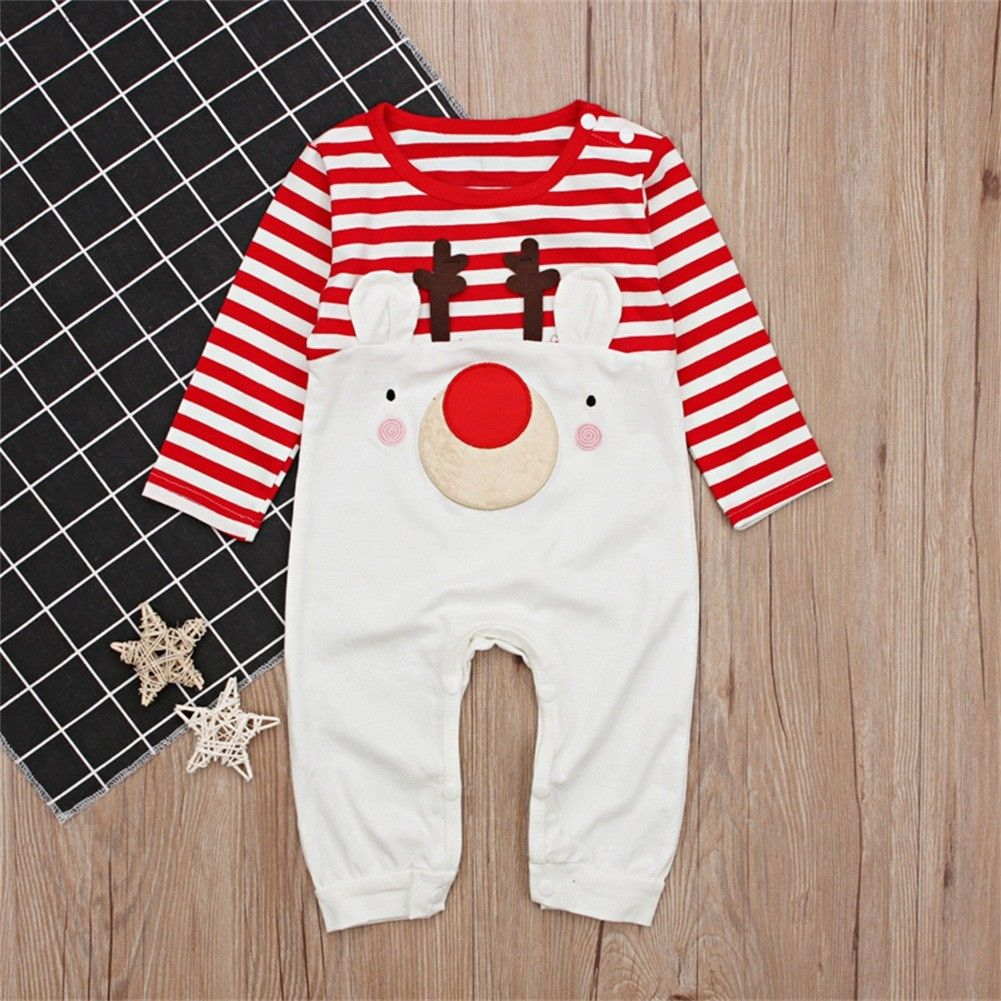 2018 Latest Children's Wear Newborn Infant Baby Boy Girl Cute Deer Christmas Playsuit Bodysuit Jumpsuit Clothes Outfit 0-24M велосипед pilsan велосипед happy с ручкой управления в коробке