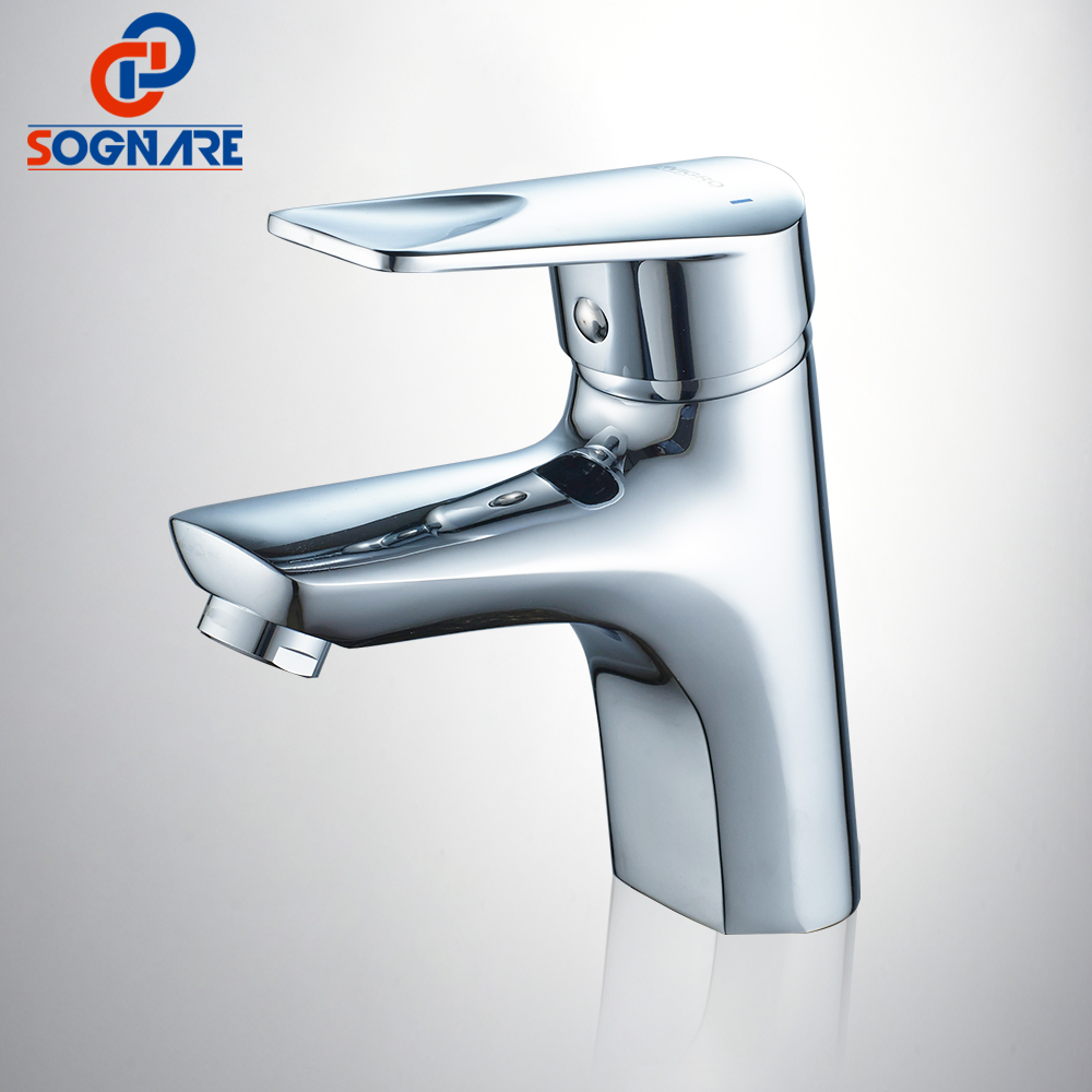 цены SOGNARE Classic Style Basin Faucet Cold and Hot Water Mixer Deck Mount Single Handle Tap Bathroom Vanity Sink Mixer Tap D1114