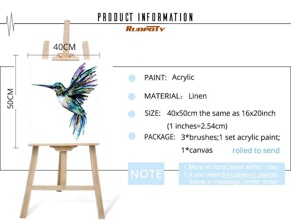 HTB1Tcsjc2WG3KVjSZFgq6zTspXaD RUOPOTY Frame Colorful Bird DIY Painting By Numbers Acrylic Paint On Canvas Painting Animals Coloring By Numbers For Home Decors