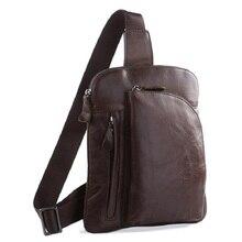 100% Genuine Leather Men Chest Bags Back packs Popular Chest Bags Shoulder Bag Camping & Hiking Bag 7194 709