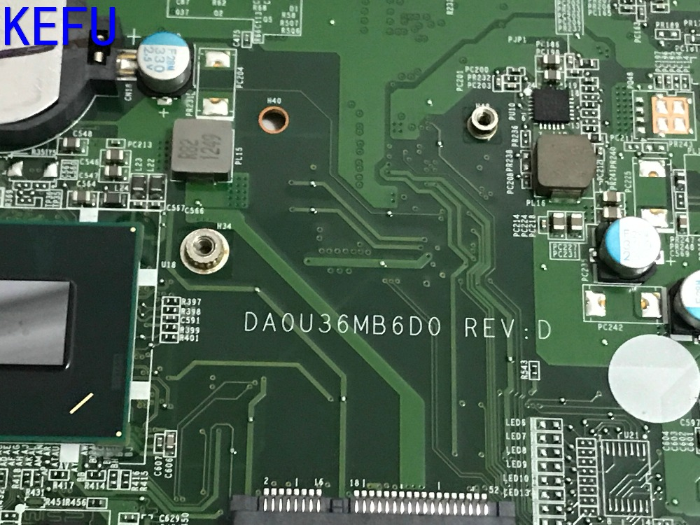 KEFU NEW Free Shipping 712795-501 DA0U36MB60 Laptop motherboard for HP PAVILION 15-B NOTEBOOK PC WITH PROCESSOR I3-3227U 716731 001 716731 501 fit for hp 810 laptop motherboard i3 3227u 1 90 ghz motherboard tested working