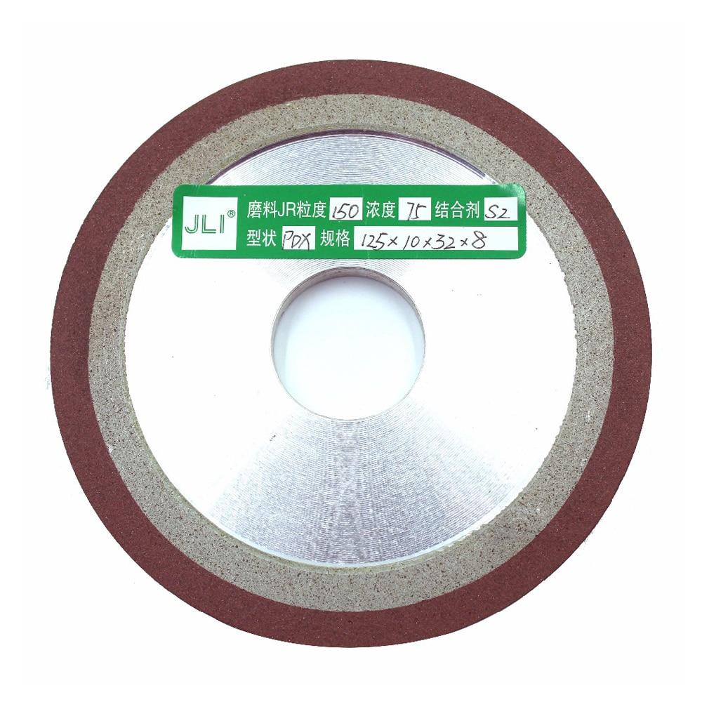 Di alta qualità 1 pz diamante diamante ruota PDX 125mm taglio elettrolitico lama da taglio rettifica grana finezza utensili rotanti