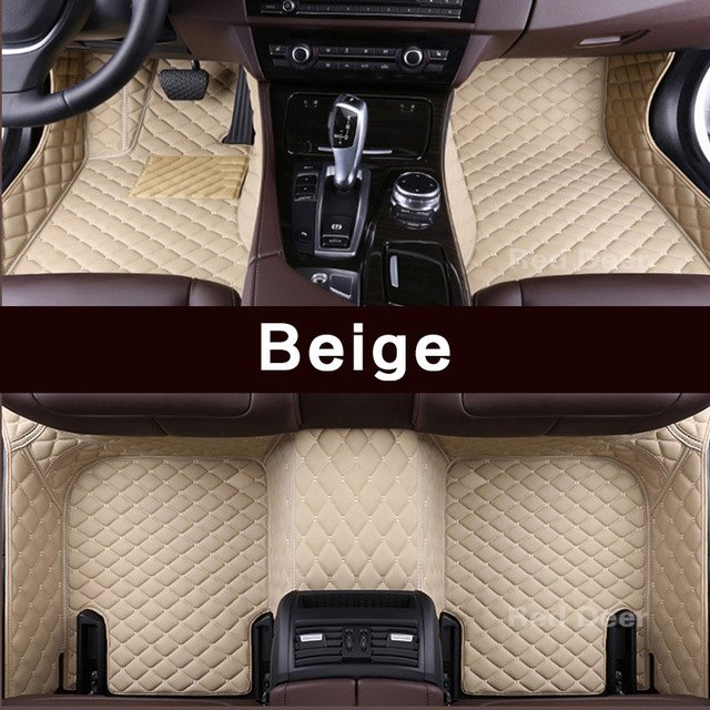 Custom Car Floor Mats for BMW X3 E83 F25 2018-2019 All Weather Waterproof Non-Slip Full Covered Protection Advanced Performance Car Liner Black Beige